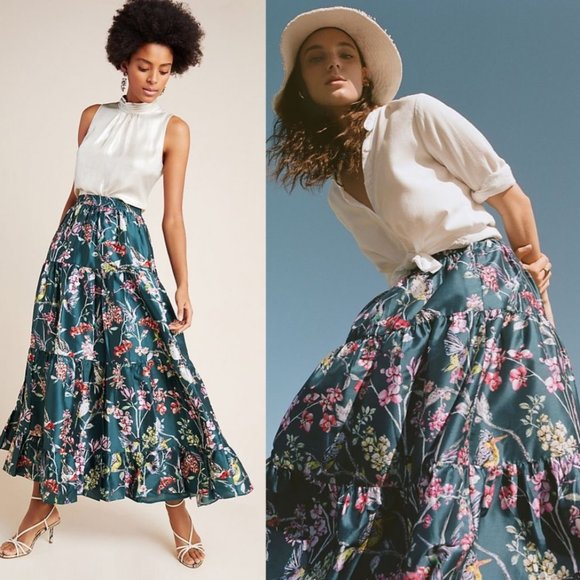 Anthropologie Dresses & Skirts - ANTHROPOLOGIE Denovo Tracie Tiered Maxi Skirt